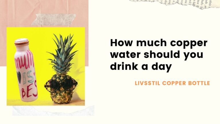 how much copper water should you drink a day